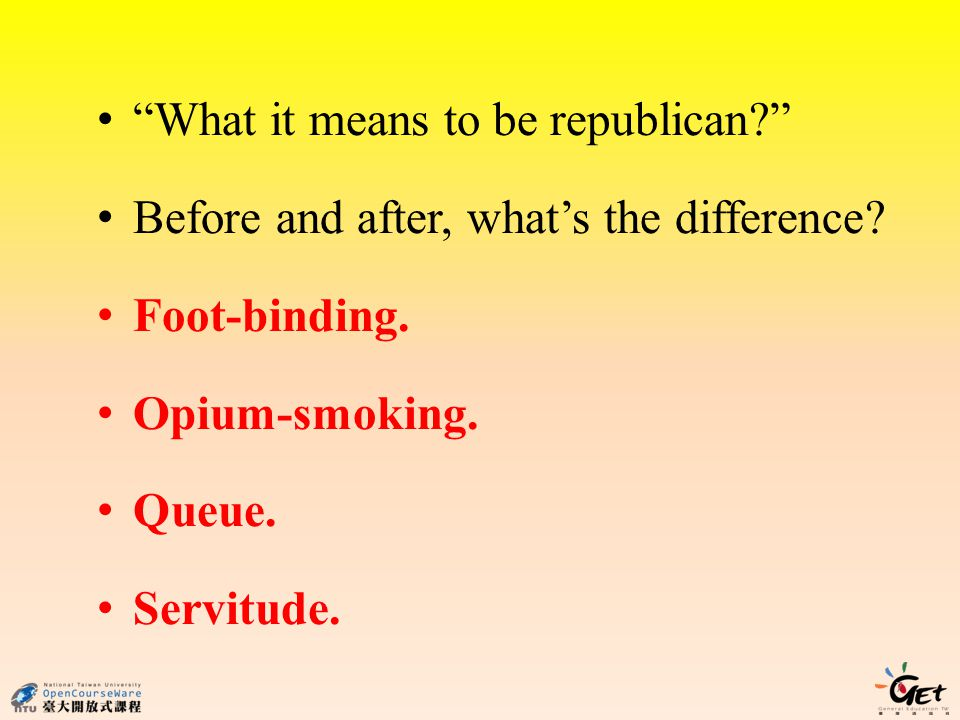What it means to be republican