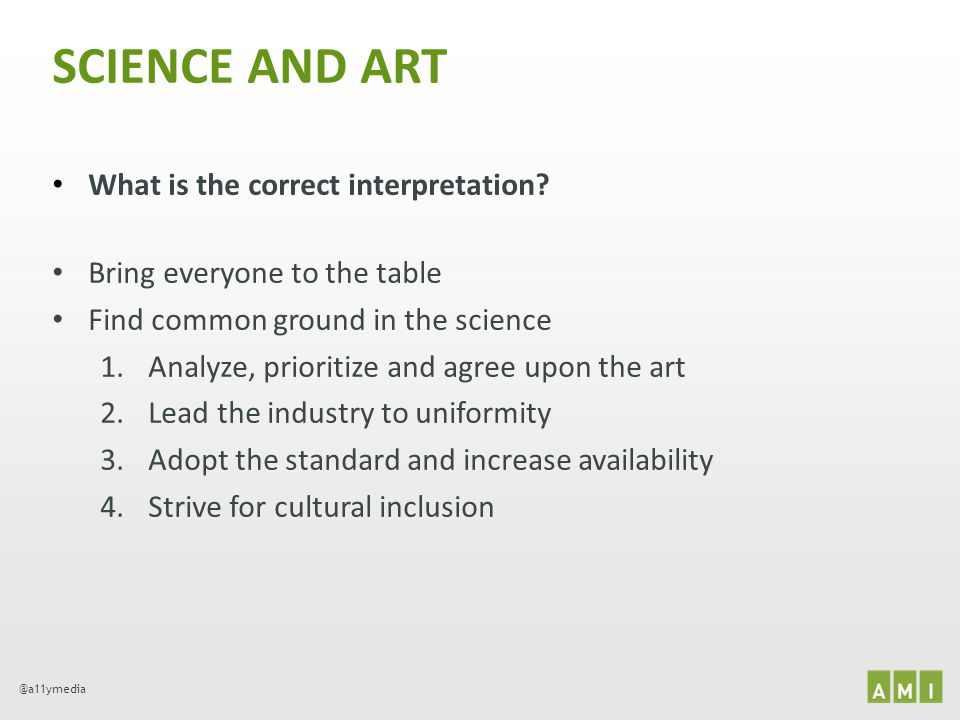 SCIENCE AND ART What is the correct interpretation