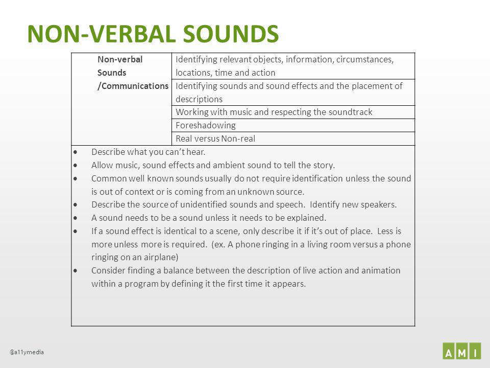 NON-VERBAL SOUNDS Non-verbal Sounds /Communications