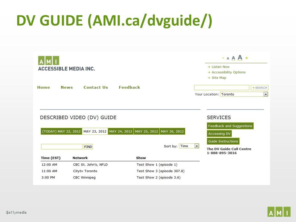 DV GUIDE (AMI.ca/dvguide/)