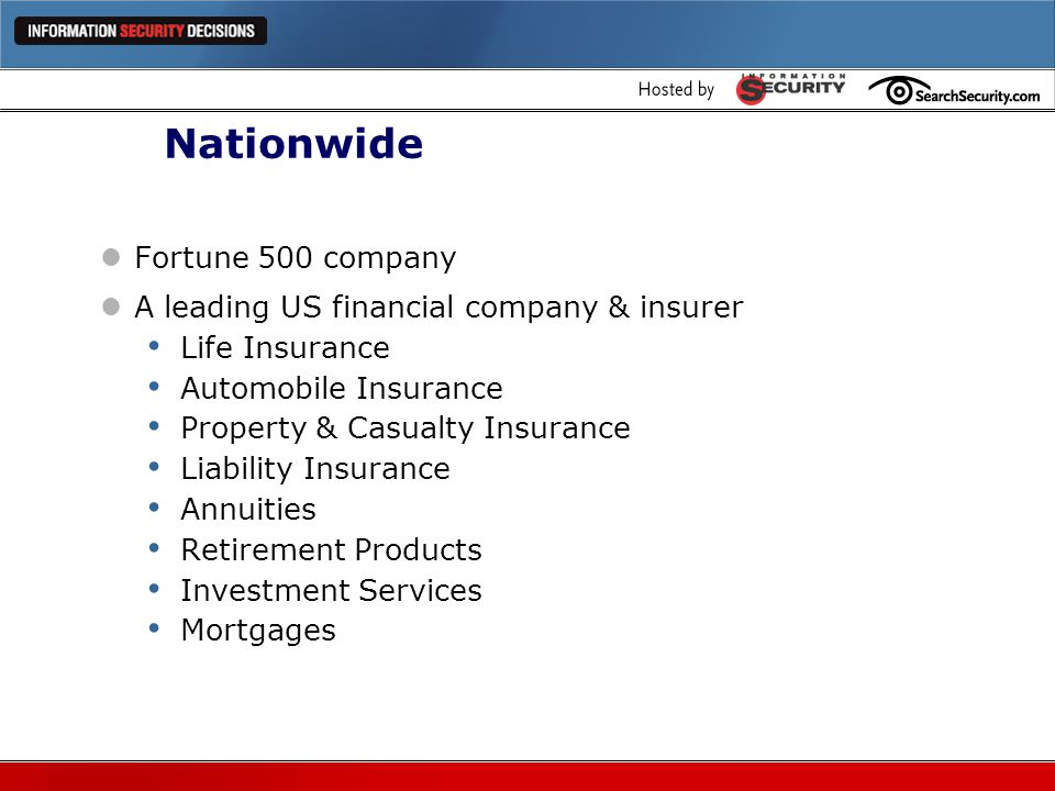 Nationwide Fortune 500 company