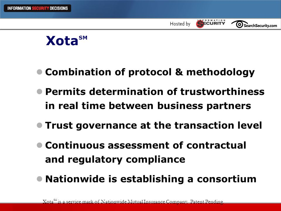 XotaSM Combination of protocol & methodology