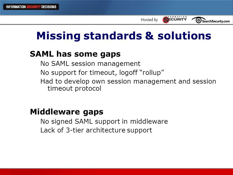 Missing standards & solutions