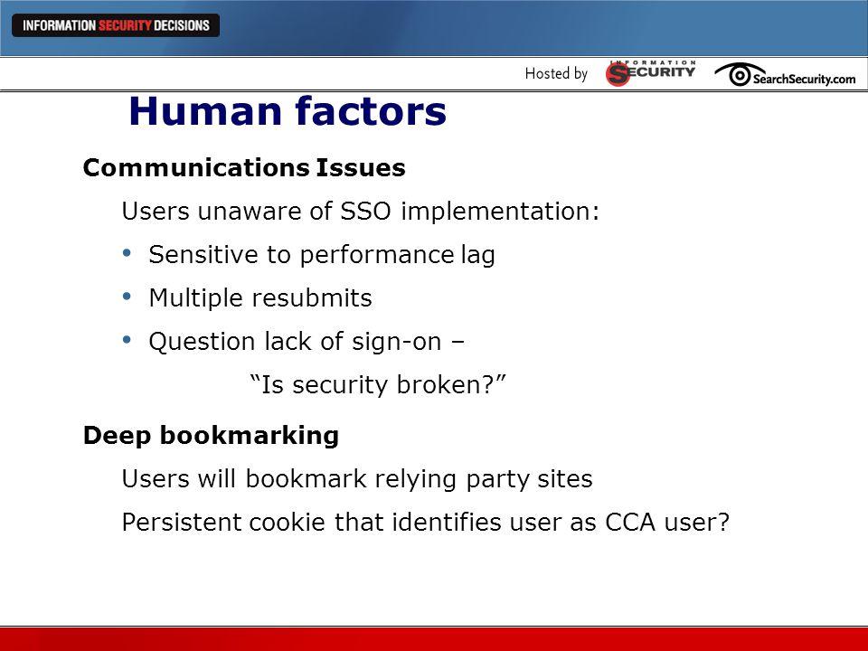 Human factors Communications Issues