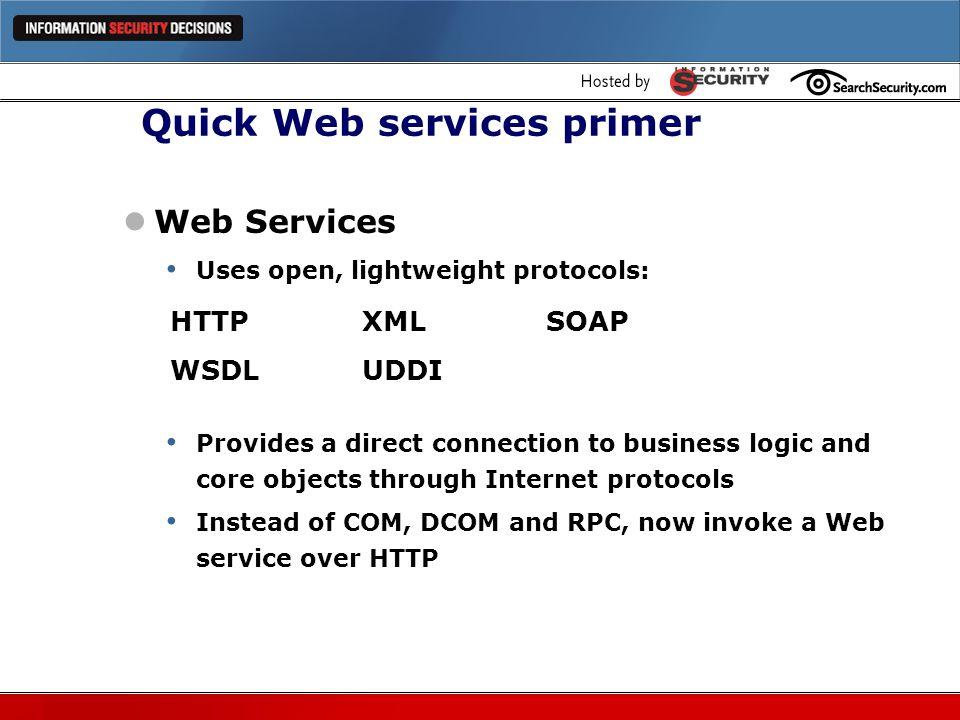 Quick Web services primer