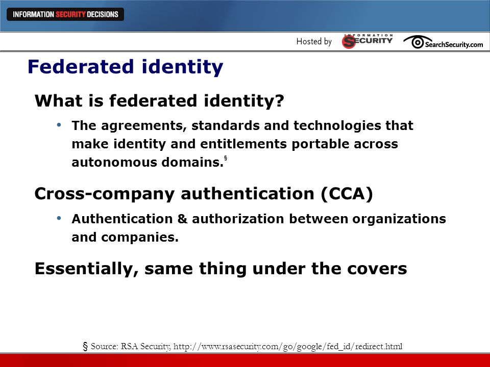 Federated identity What is federated identity