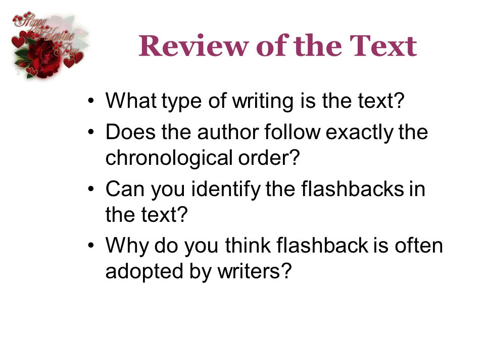 Review of the Text What type of writing is the text