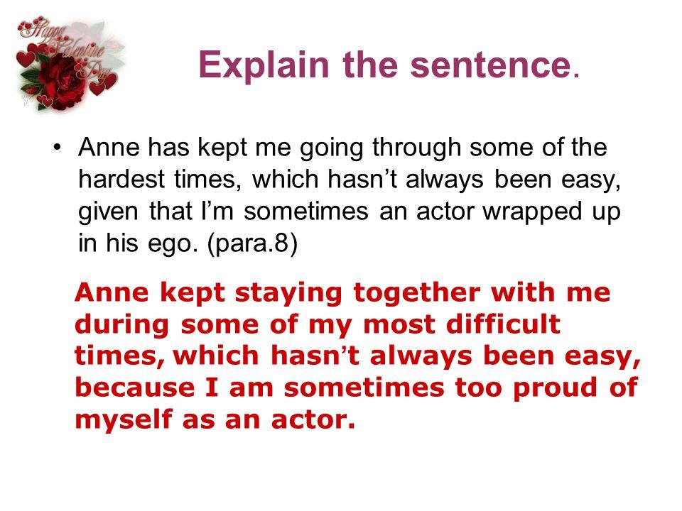 Explain the sentence.
