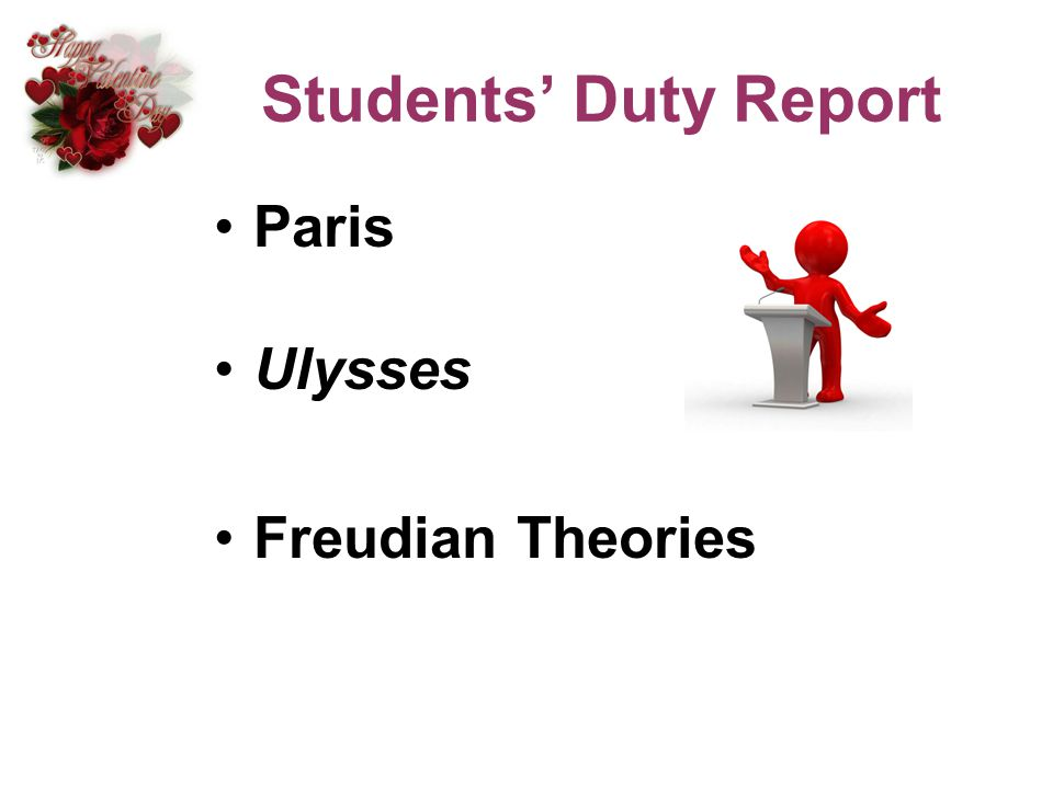 Students' Duty Report Paris Ulysses Freudian Theories