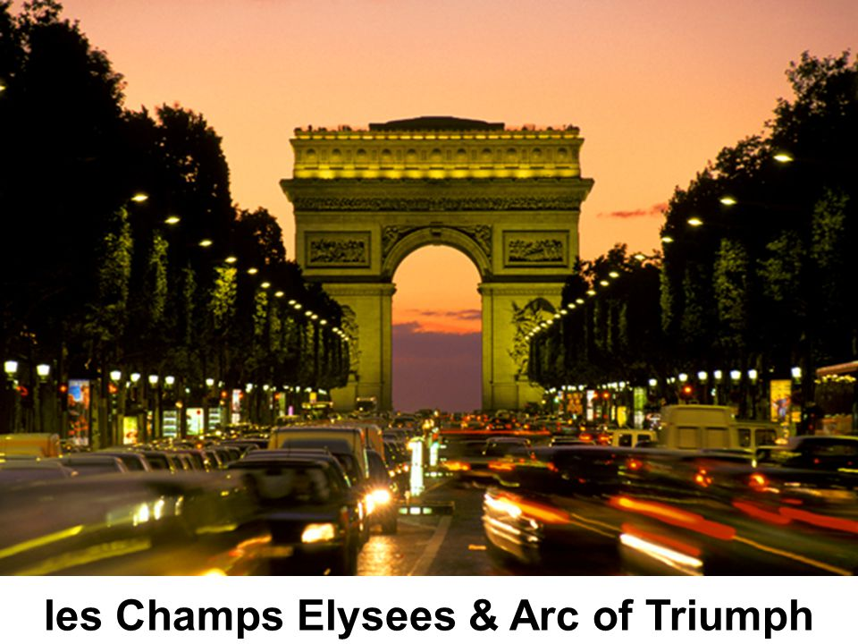 les Champs Elysees & Arc of Triumph