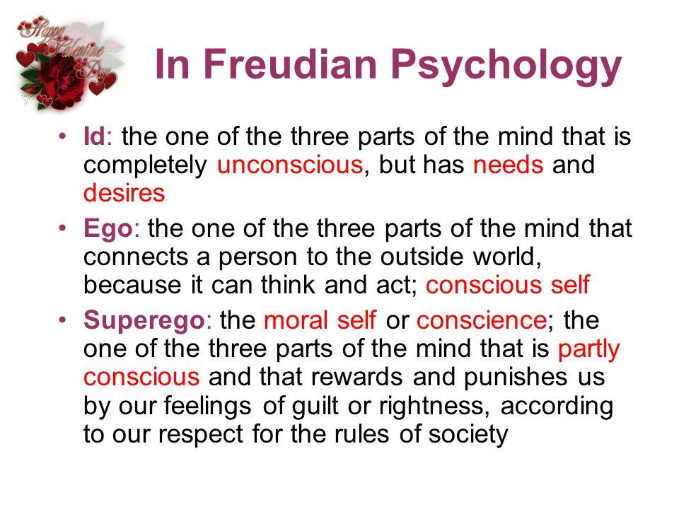 In Freudian Psychology