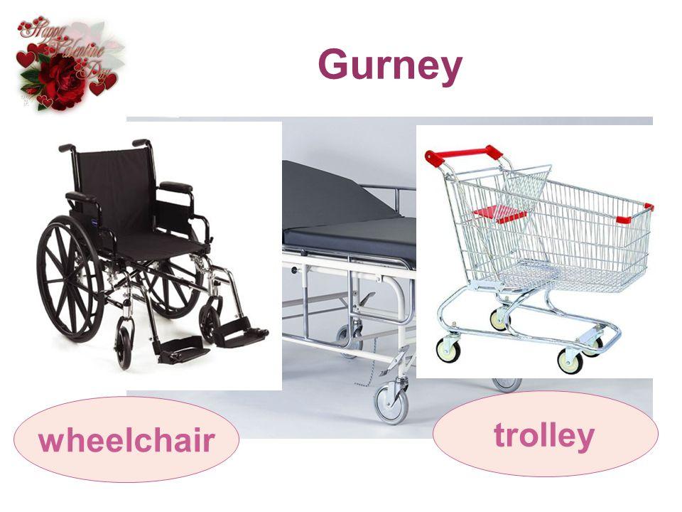 Gurney trolley wheelchair