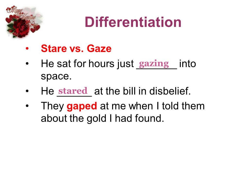 Differentiation Stare vs. Gaze