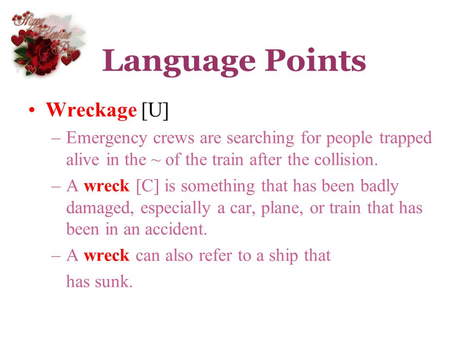 Language Points Wreckage [U]