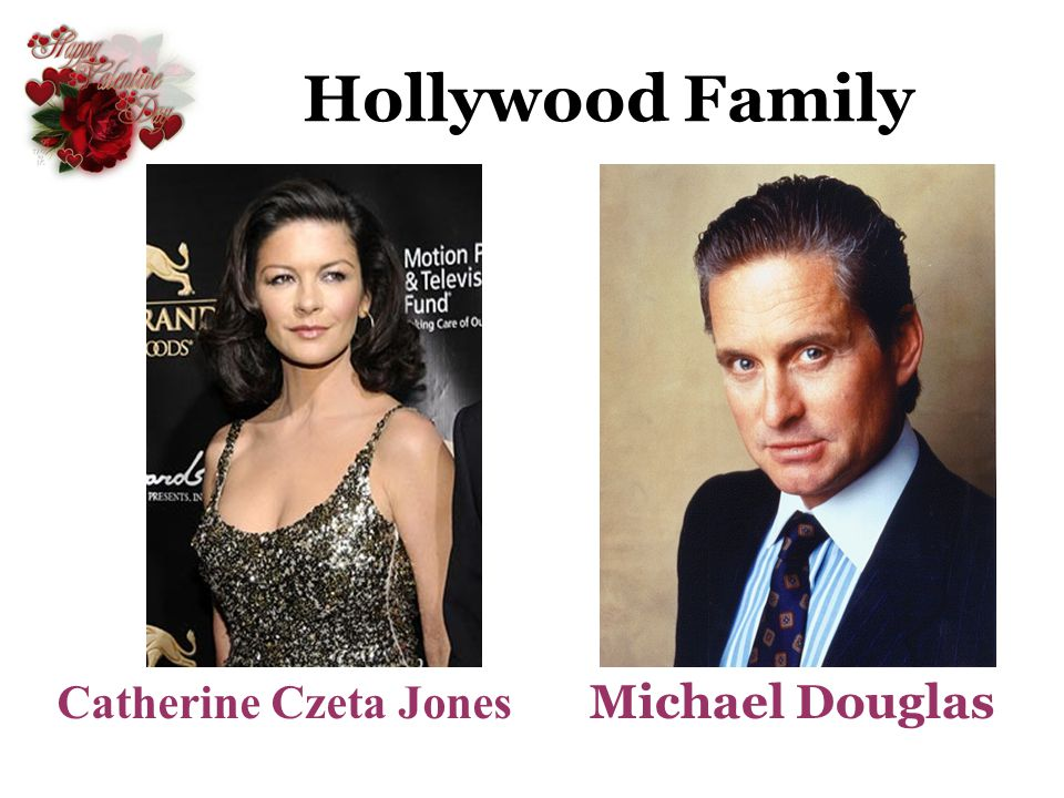 Hollywood Family Catherine Czeta Jones Michael Douglas