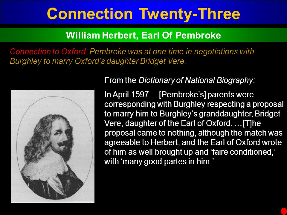 Connection Twenty-Three William Herbert, Earl Of Pembroke