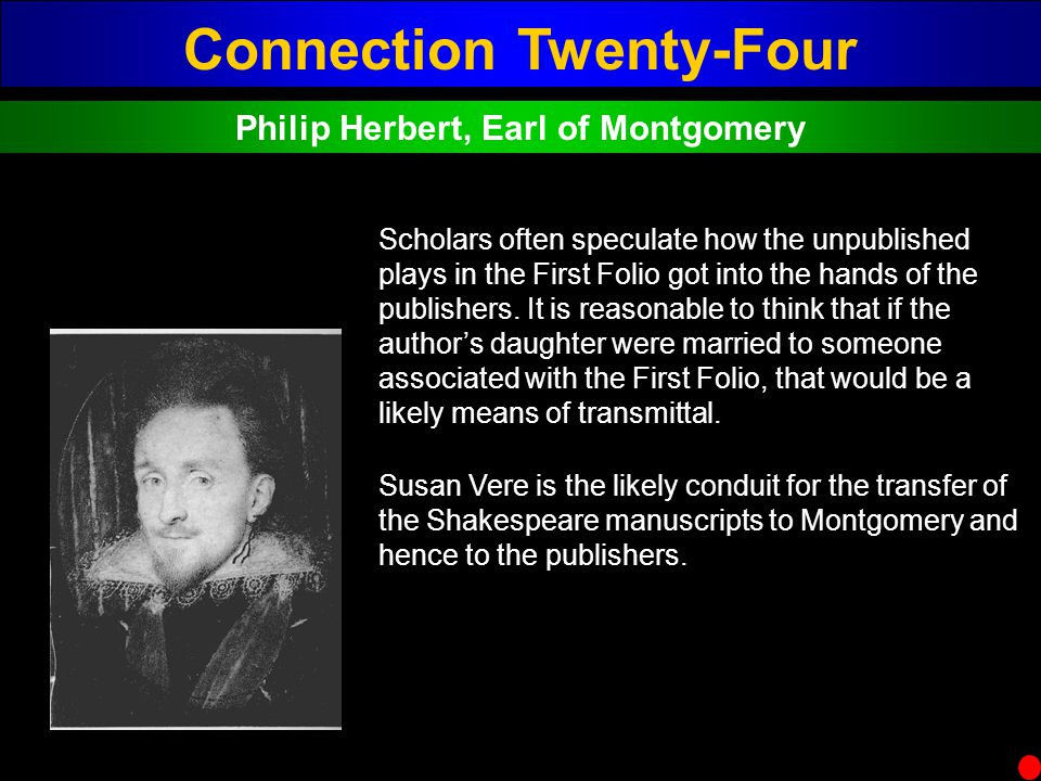 Connection Twenty-Four Philip Herbert, Earl of Montgomery