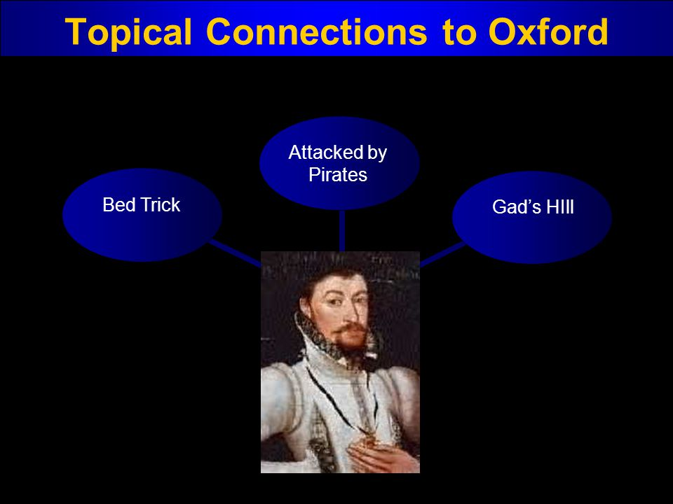 Topical Connections to Oxford