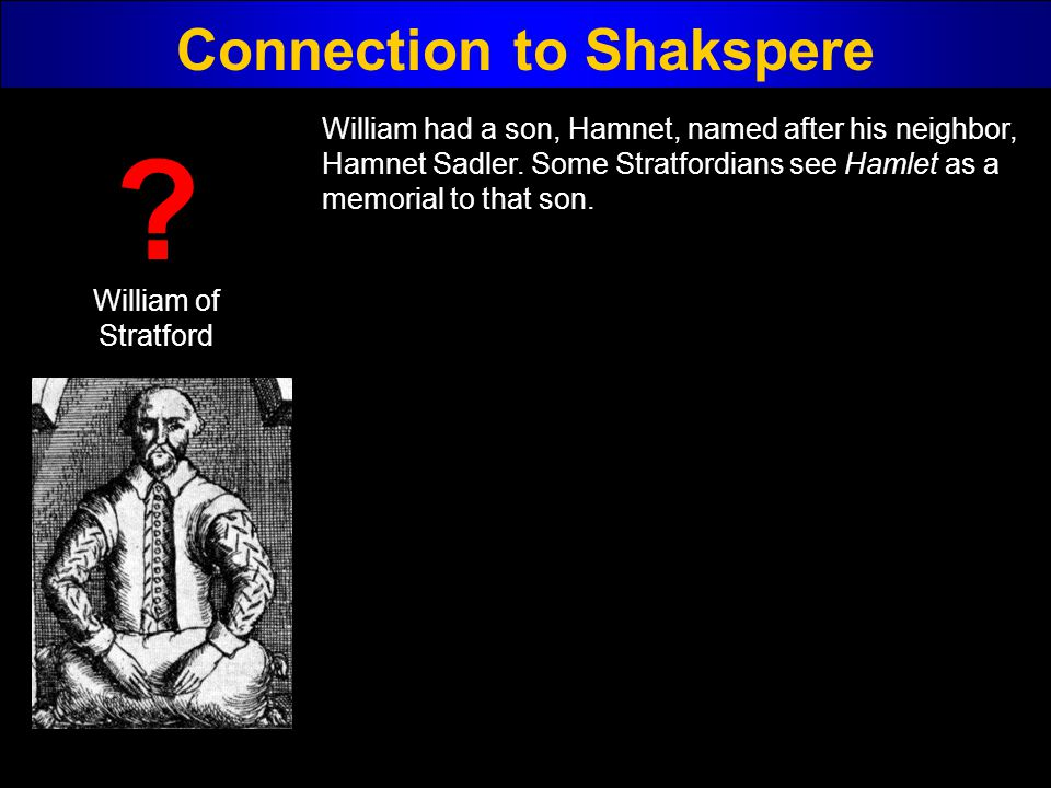 Connection to Shakspere