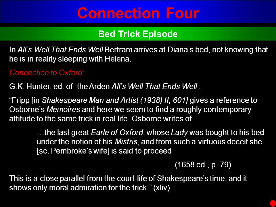 Connection Four Bed Trick Episode