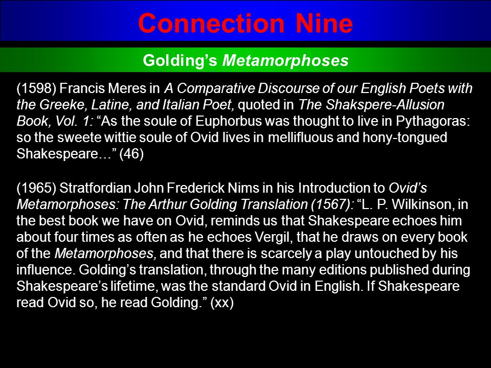 Golding's Metamorphoses
