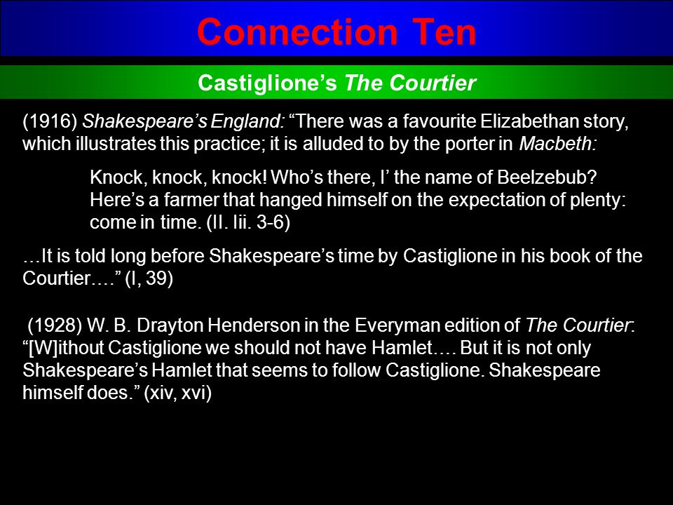 Castiglione's The Courtier