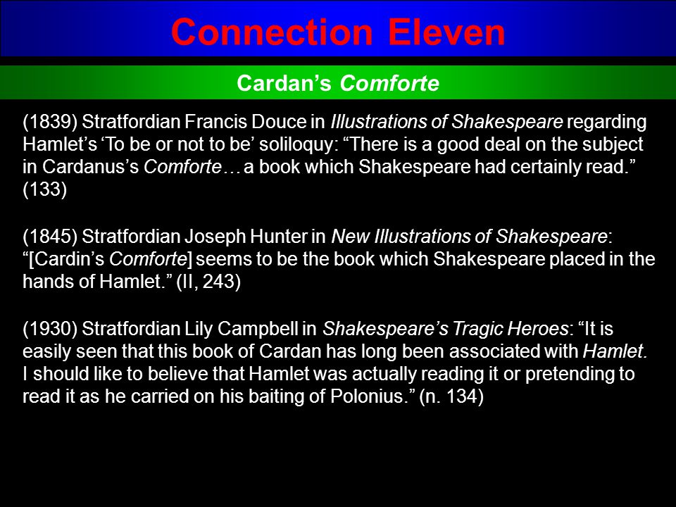 Connection Eleven Cardan's Comforte