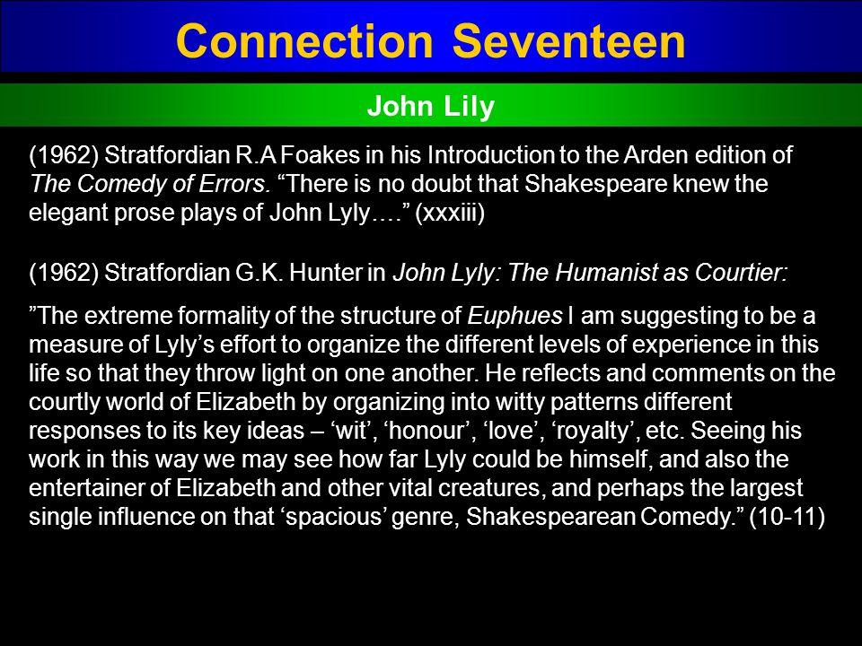 Connection Seventeen John Lily
