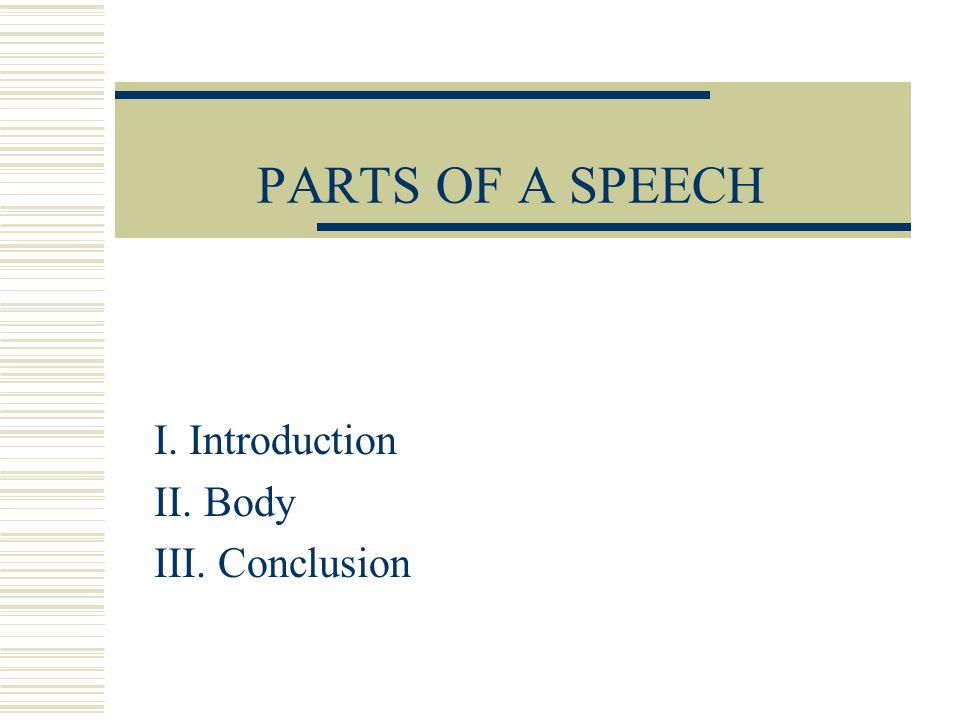 I. Introduction II. Body III. Conclusion