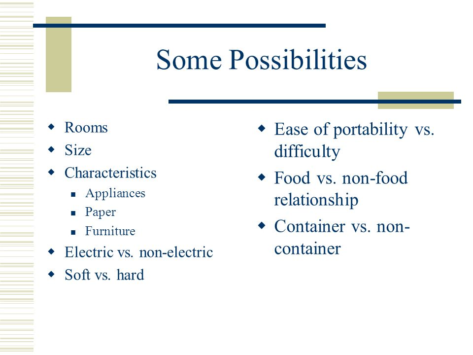 Some Possibilities Ease of portability vs. difficulty