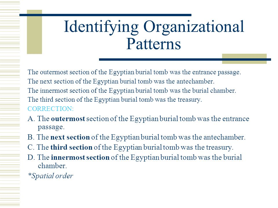Identifying Organizational Patterns