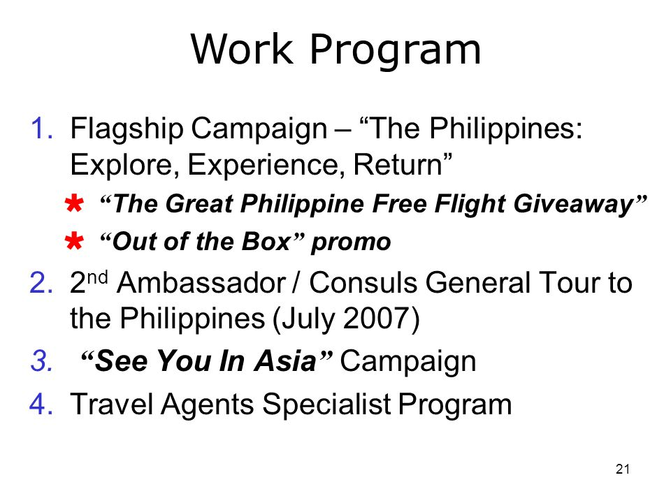 Work Program Flagship Campaign – The Philippines: Explore, Experience, Return The Great Philippine Free Flight Giveaway