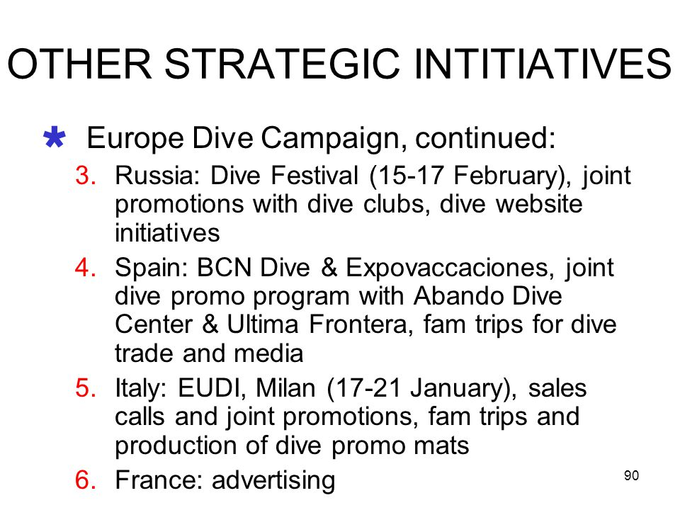 OTHER STRATEGIC INTITIATIVES