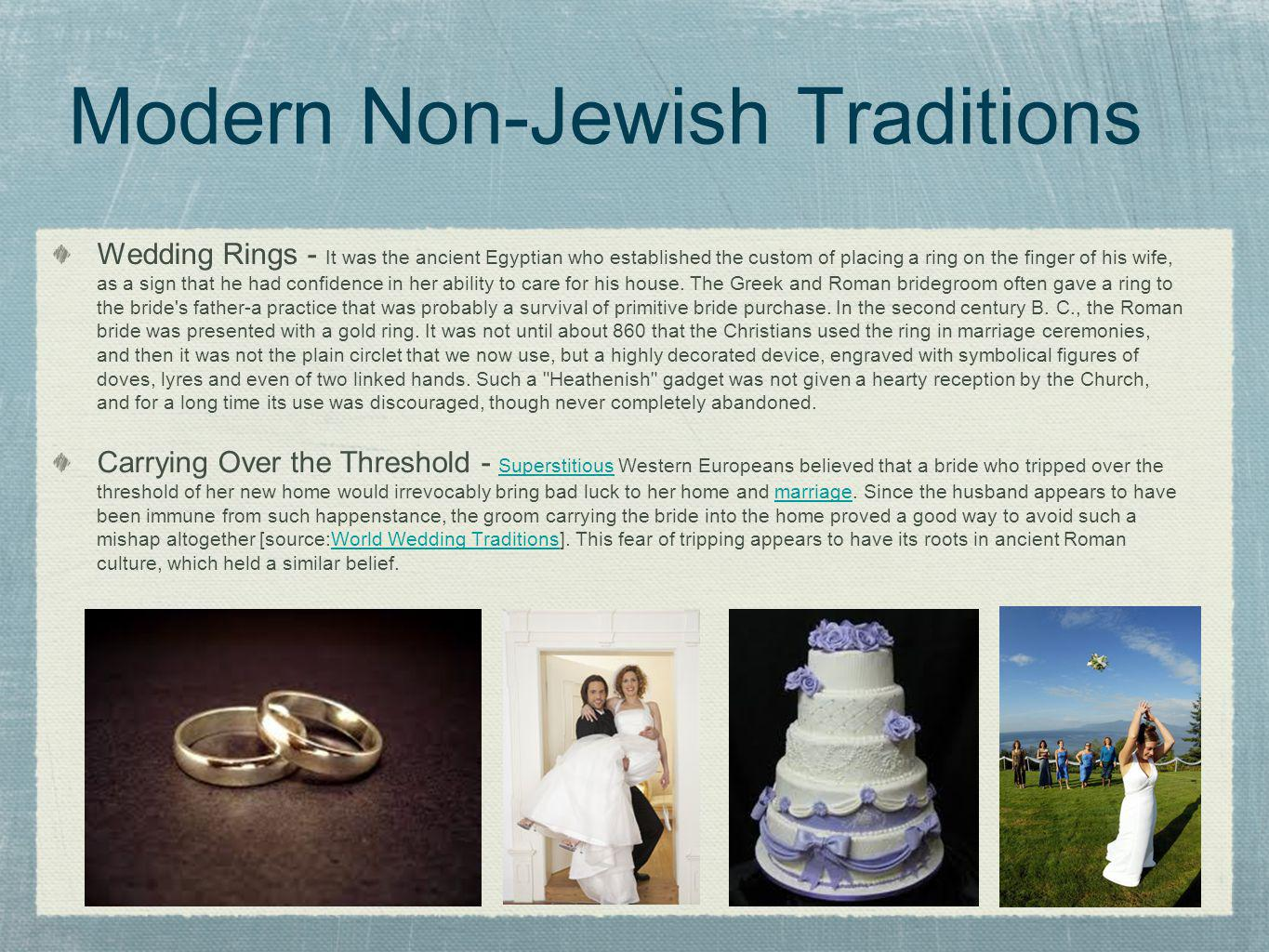 Modern Non-Jewish Traditions