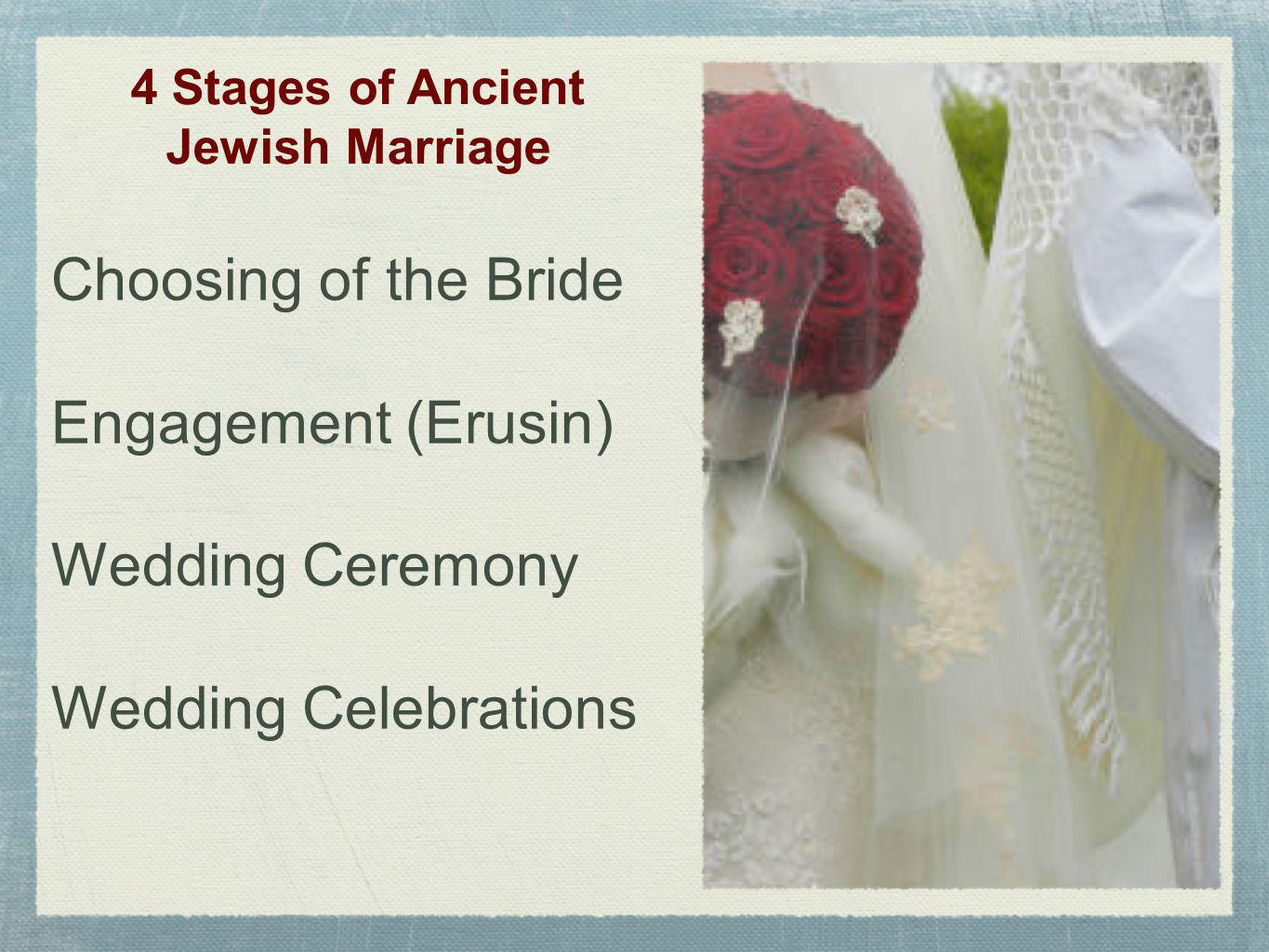 4 Stages of Ancient Jewish Marriage