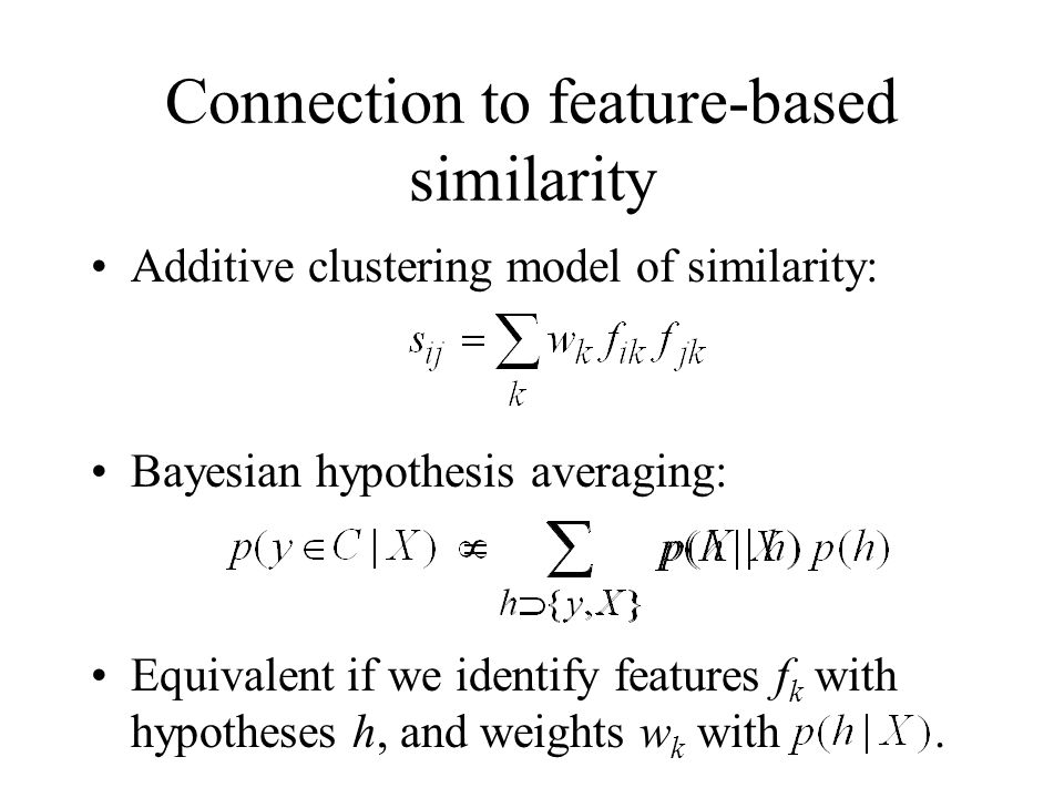 Connection to feature-based similarity