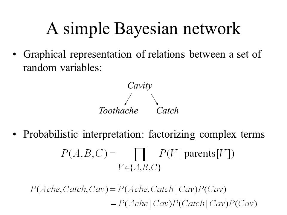 A simple Bayesian network