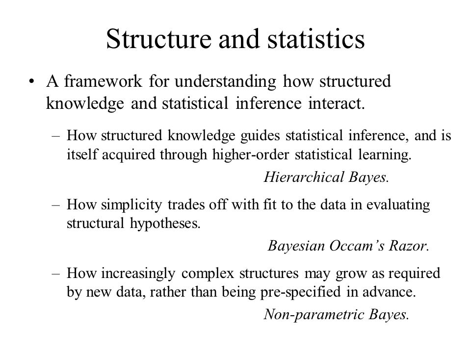 Structure and statistics