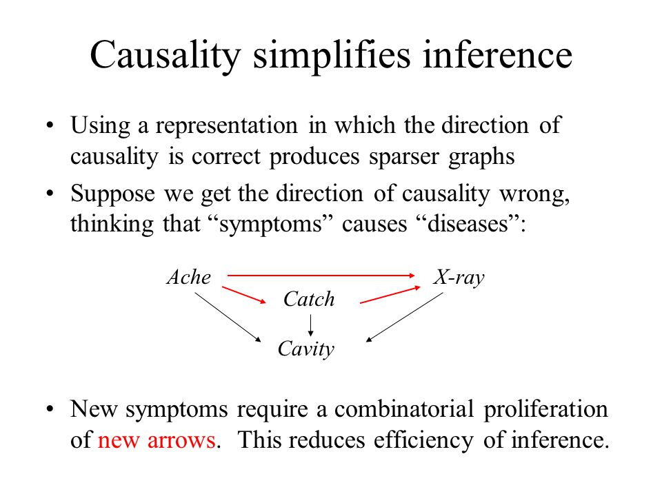 Causality simplifies inference