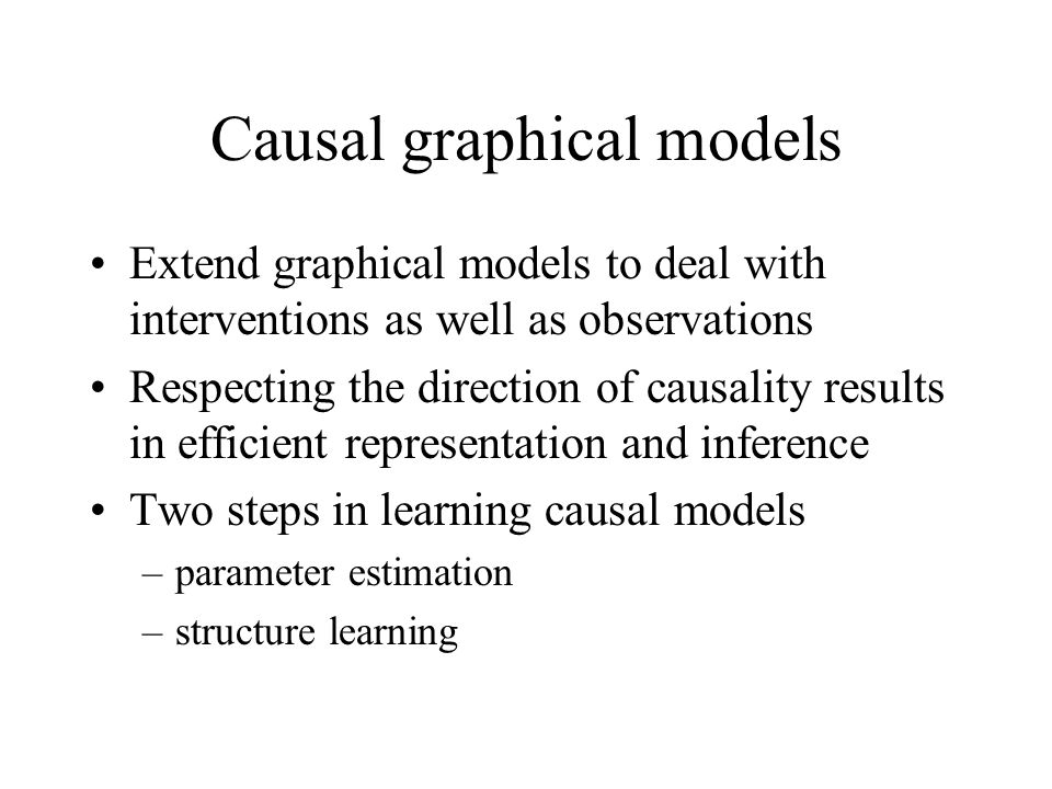 Causal graphical models
