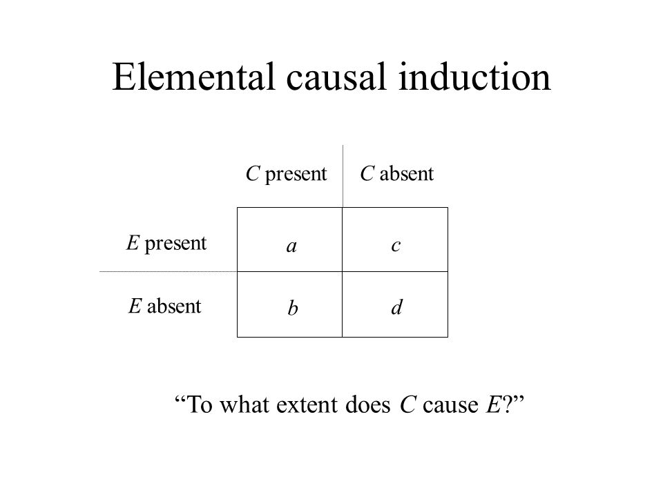 Elemental causal induction