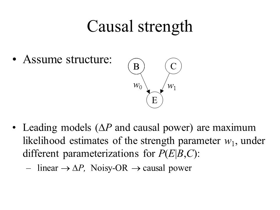 Causal strength Assume structure:
