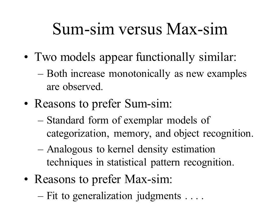 Sum-sim versus Max-sim
