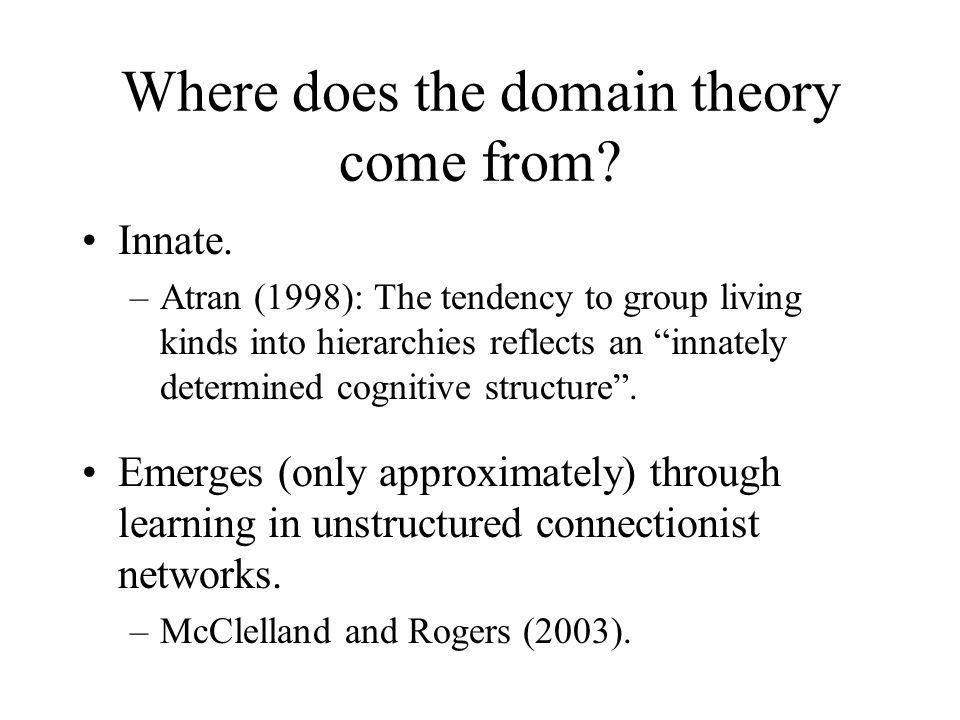 Where does the domain theory come from