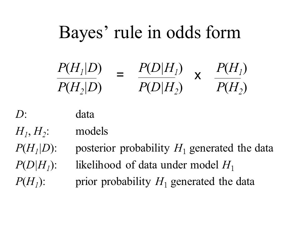 Bayes' rule in odds form