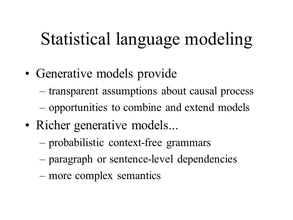 Statistical language modeling
