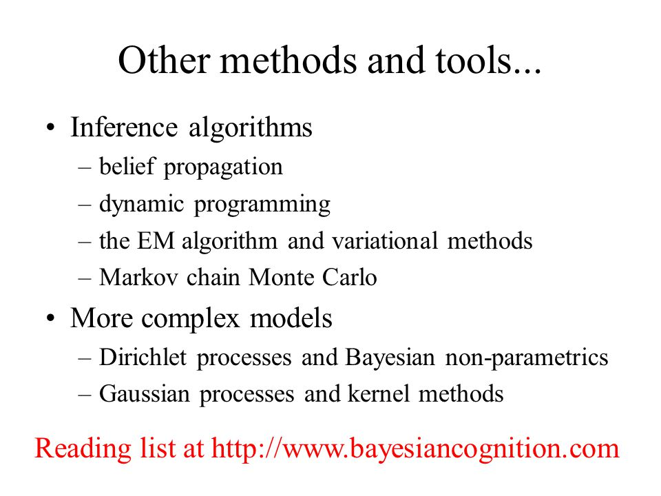 Other methods and tools...