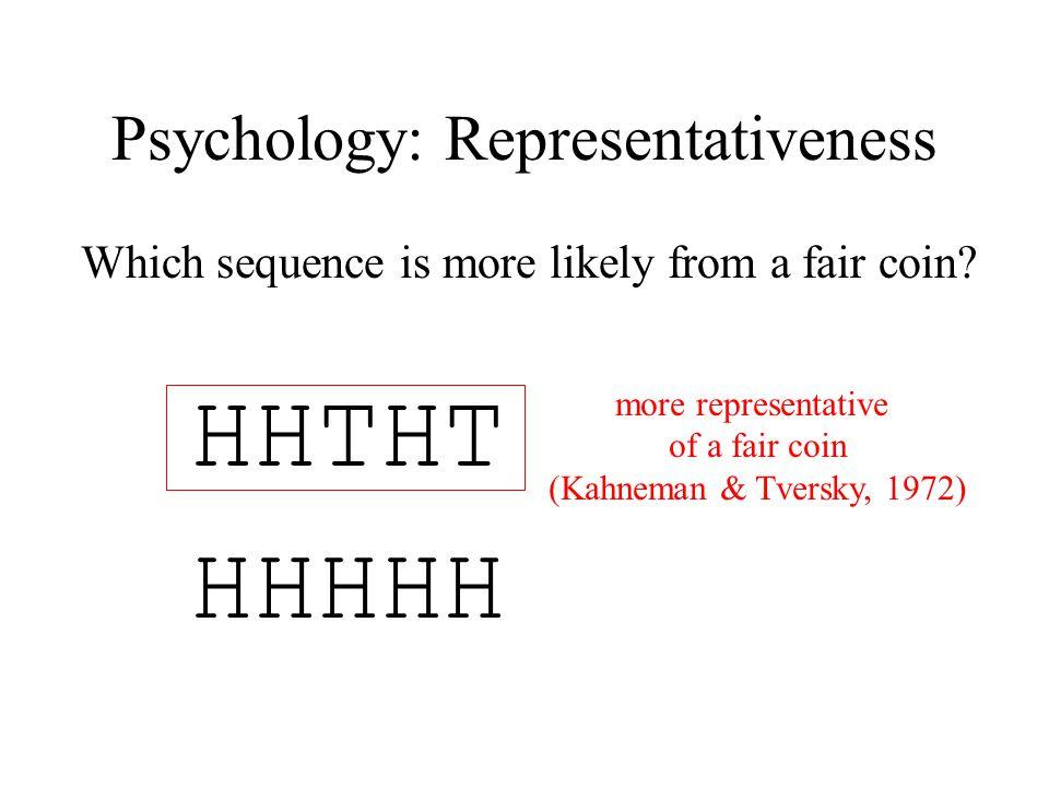 Psychology: Representativeness