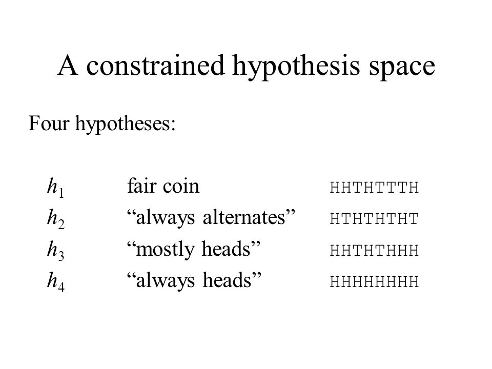 A constrained hypothesis space