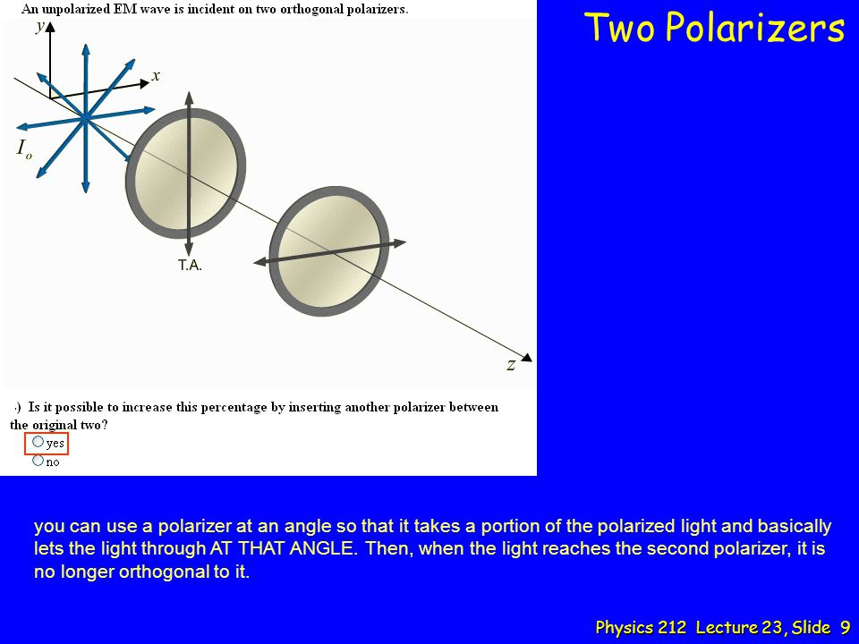 Two Polarizers